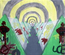 Cubicles.Oil on Canvas.30cmx25cm.2008