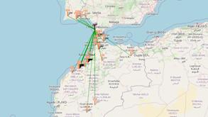 Tropo FM hacia Marruecos, Huelva y Portugal desde la loma - 13/8/2021