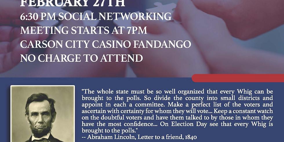 Carson City Republicans Present Precinct Organization for 2020 Election