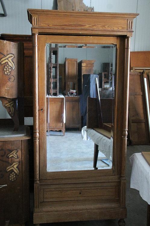 Armoire une porte avec miroir