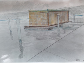Skizzen Saunafloss