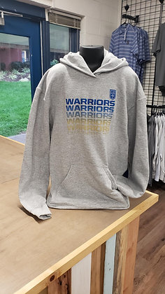 Gray Warrior Repeat Hoody YOUTH