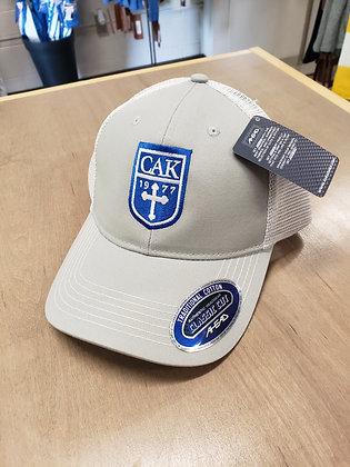 AHEAD Gray Twill Trucker Hat