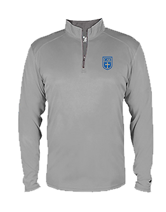 Youth Gray DRI FIT 1/4 Zip