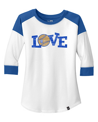 White/Royal LOVE Softball