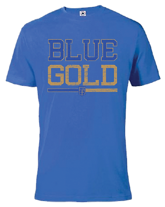 Royal ADULT Blue Gold S/S Tee