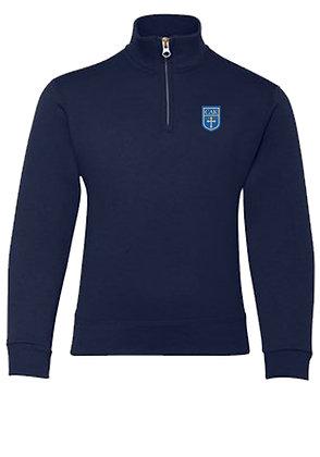 ADULT Navy 1/4 Zip Sweatshirt