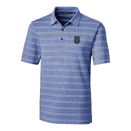 CB Blue Heather Stripe Polo