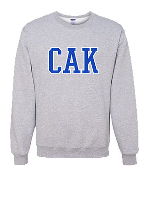 YOUTH Gray CAK/Royal Crew Sweatshirt