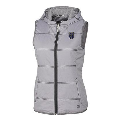 Cutter & Buck Womens Stripe Cora Vest