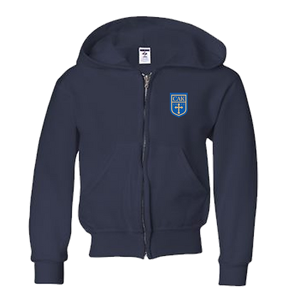 YOUTH/TODDLER Full Zip Hoodie NAVY Shield