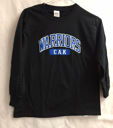 Youth Black Warrior Arch Long Sleeve T-Shirt
