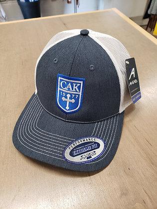 AHEAD Navy Linen Trucker Hat
