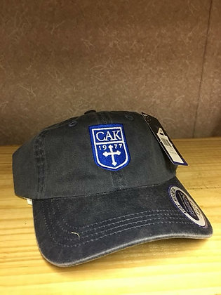 AHEAD Youth Heatherd Navy Pigment Dyed Cap