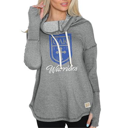 Gray Retro Brand Funnel Neck Sweatshirt