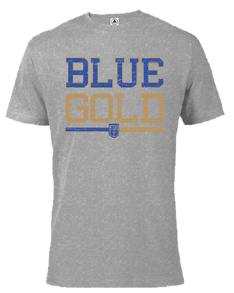 Gray ADULT Blue Gold S/S Tee