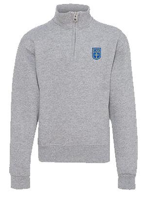 YOUTH Gray 1/4 Zip Sweatshirt