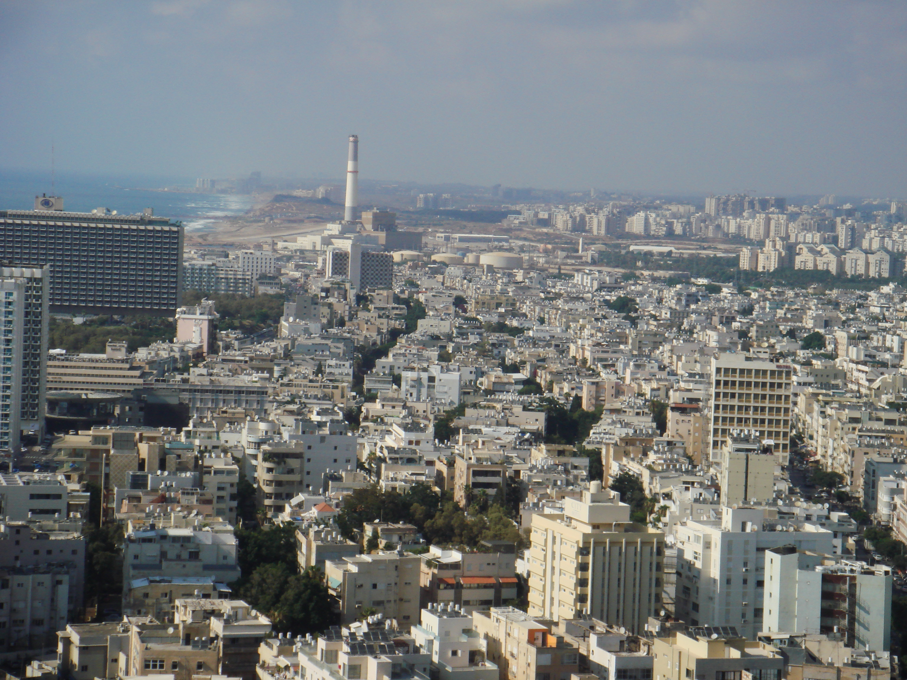 North Tel Aviv with Reading power station and Dov Airport strip
