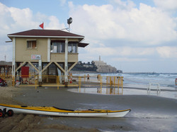 Tel Aviv seaside, lifeguard station