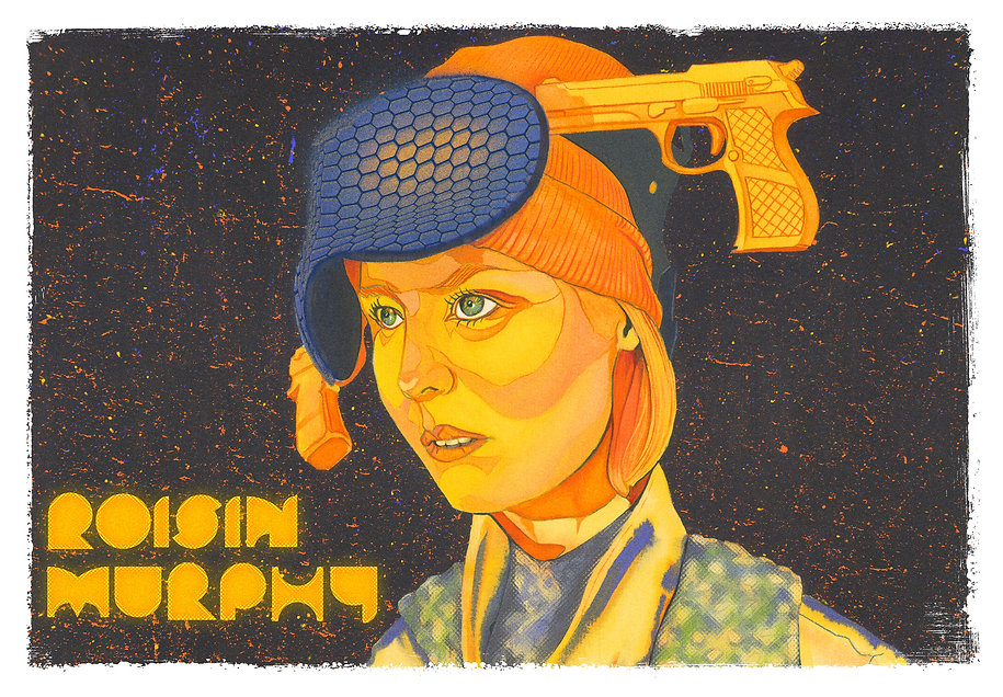 Roisin Murphy illustration Roisin Machine, contemporary illustration, alternative gig poster