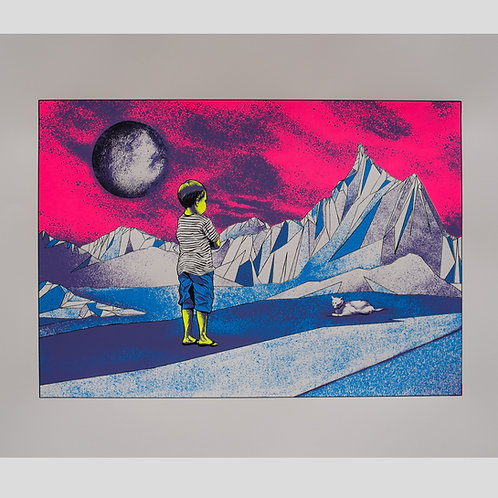 After the Fallout (Mauve) ltd edition screen print