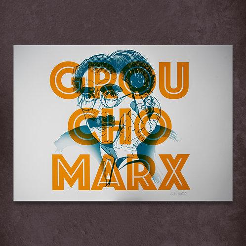 Groucho (Orange) ltd edition screen print