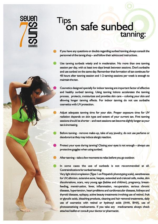 Tips on safe sunbeds tanning