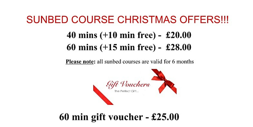Sunbed Course Christmas Offers