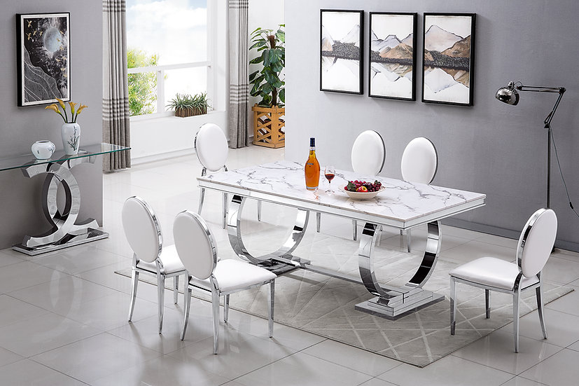 RDT316 MARBLE DINING TABLE