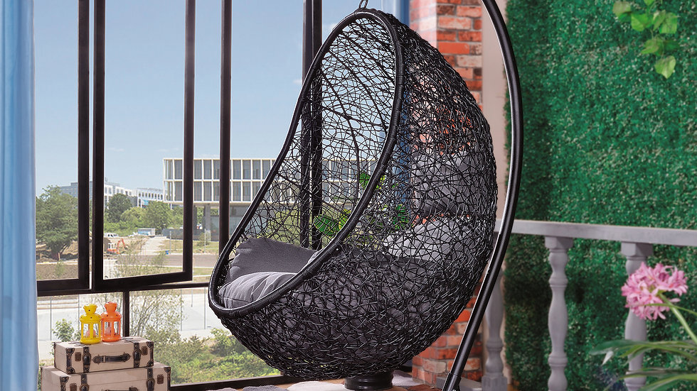 Tinnin Eggplant Swing Chair