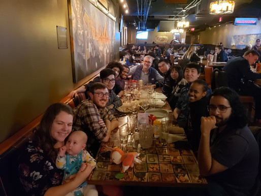Lab gathering and farewell to Ayonga!