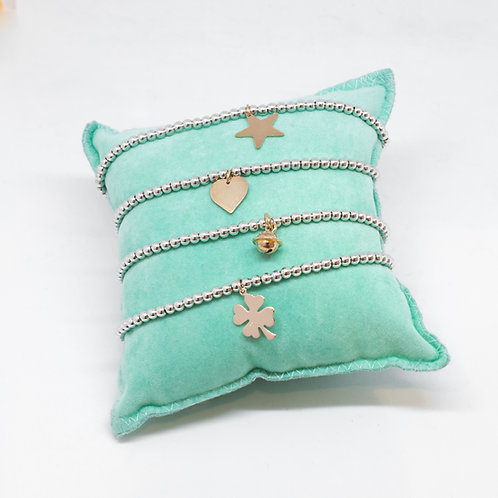Bracciale elastico charm 1 cm