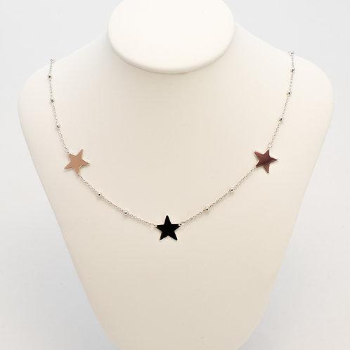 Collana girocollo rosario 3 charms