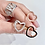 Thumbnail: Anello cuore vuoto zirconi