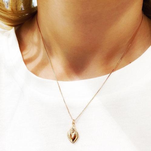 Collana girocollo serpente /cuore sacro