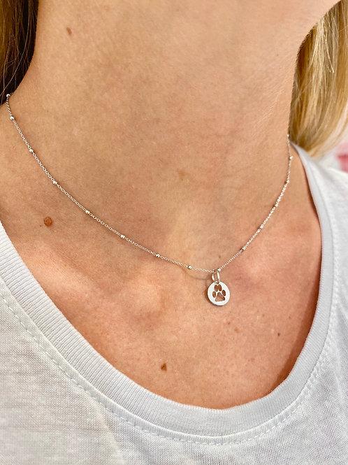 Collana micro rosario con zampetta