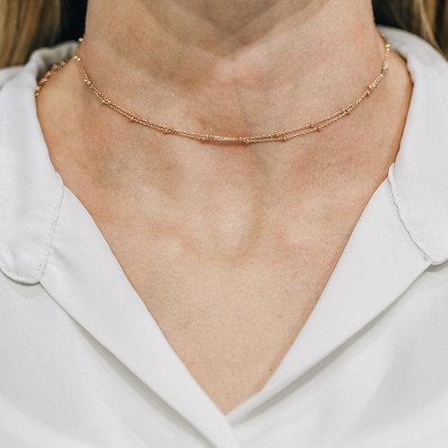 Collana chocker doppia micro rosario