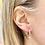 Thumbnail: Orecchini a scatto con pendente zirconi