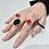 Thumbnail: Orecchini e anelli ottone geometrici