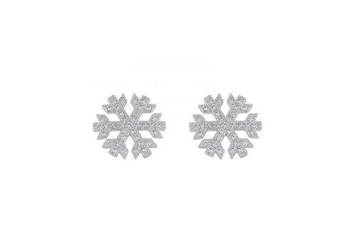 Orecchini fiocco di neve large