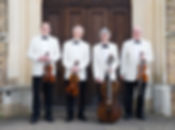 Phoenix String Quartet in white dinner jackets
