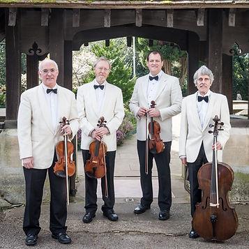 Phoenix String Quartet in white dinner jackets