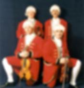 Phoenix String Quartet in 18h centur livery costumes