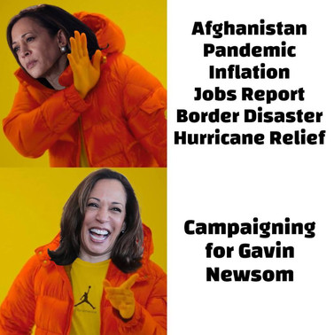 Kamala has her priorities in place.