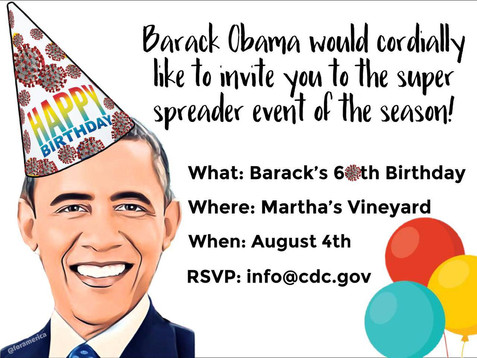 Did you all get your invitation to Barry's super spreader bash?!?!
