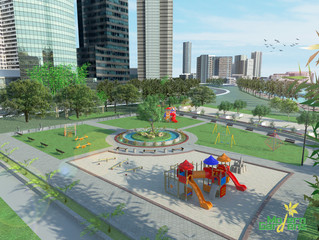PLAY IN THE CITY - Play Equipment Set on an Urban Site