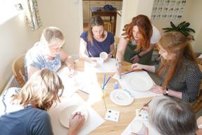 ladies pottery painting