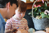 father and son pottery painting
