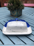 paint your own pottery butter dish - splatter effect