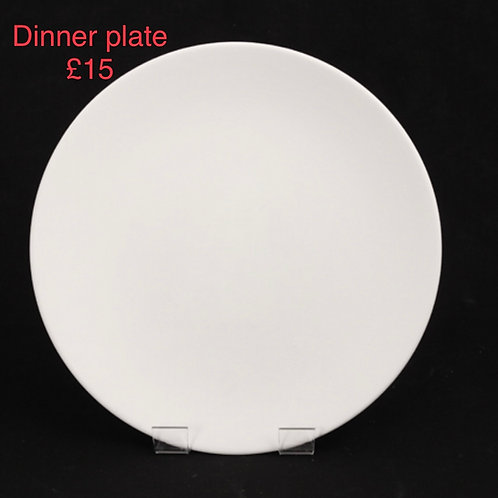 Dinner Plate (rimless)